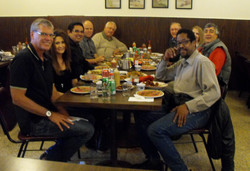 Elliott, Tommy Lasorda & crew at lunch