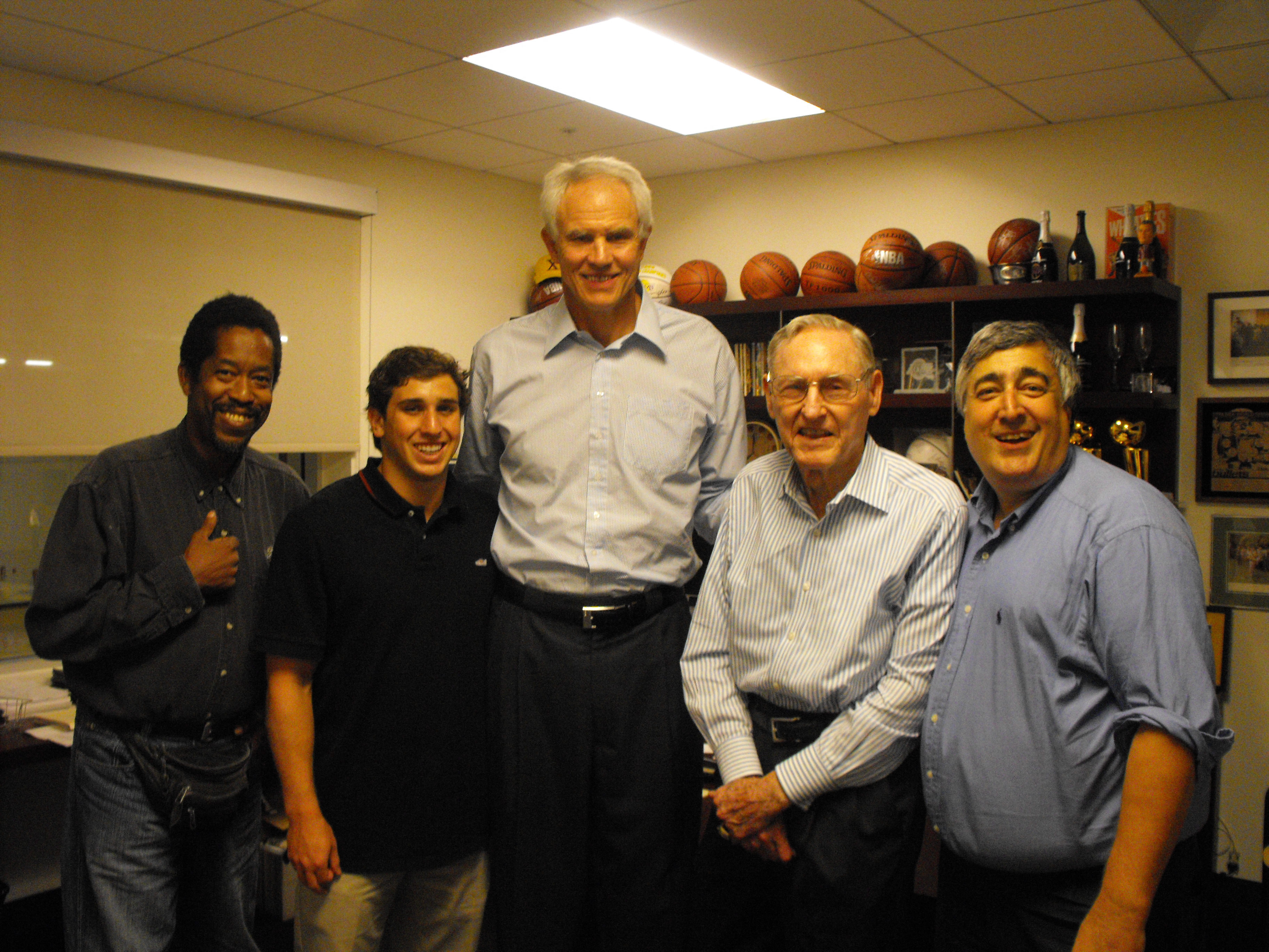 Elliott, Mitch Kupchak & group