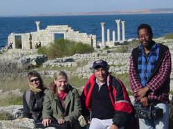 Elliott & crew at Greek ruin in Crimea