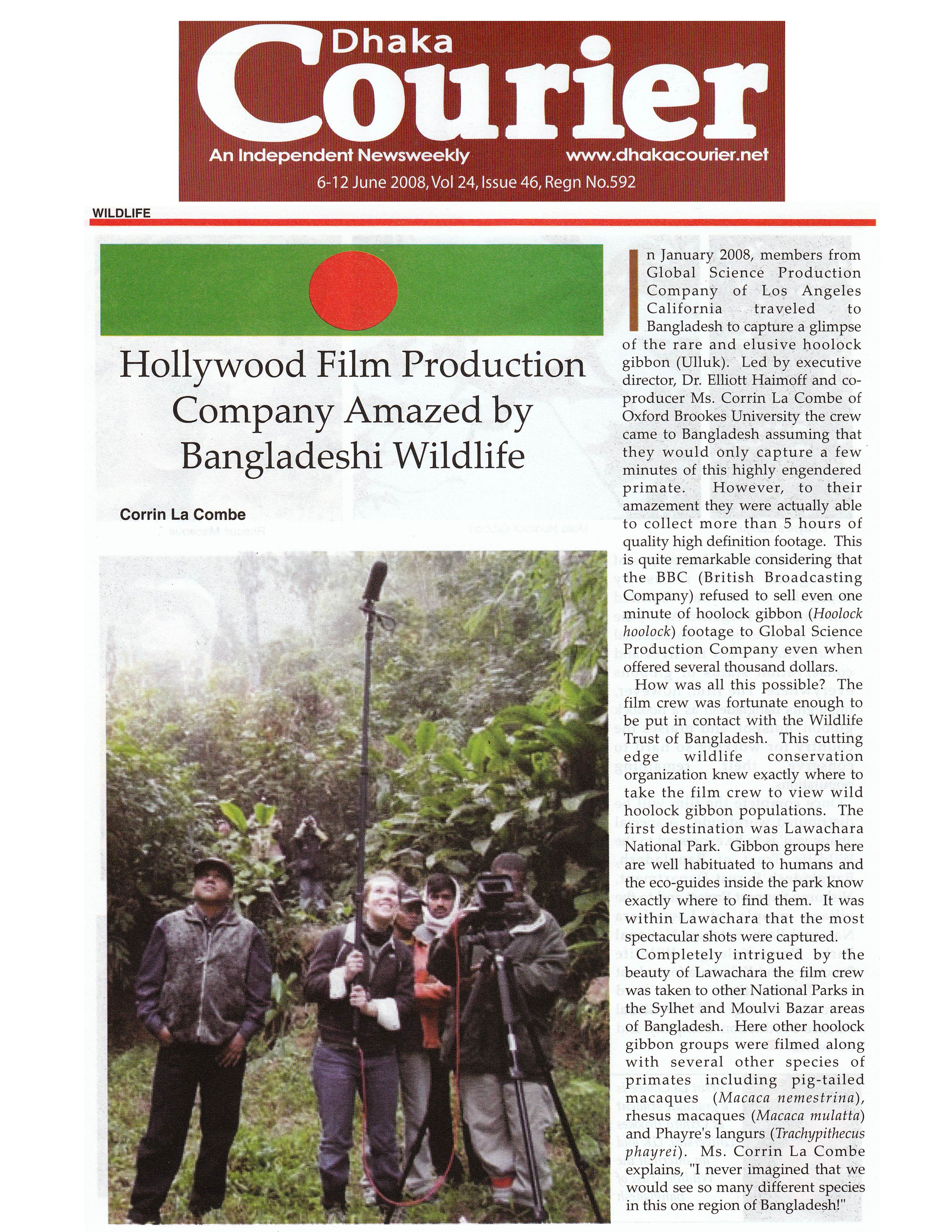 DHAKA COURIER 6-08 - Page 1