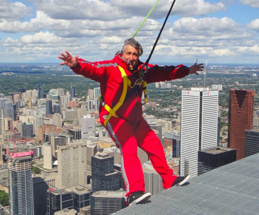Elliott at EdgeWalk CN Tower Toronto