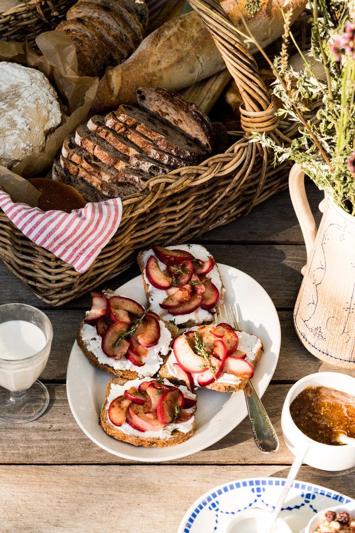 Delicious extensive organic breakfast