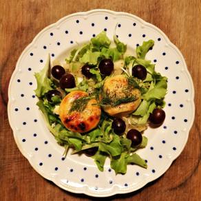 Salade met warme Crottin en venkel à la Sana