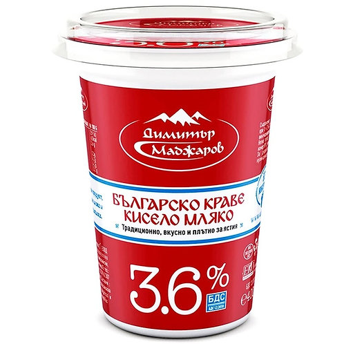 КИСЕЛО МЛЯКО МАДЖАРОВ 3.6% БДС 0.400 ГР.