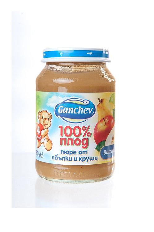 ПЮРЕ ЯБЪЛКИ И КРУШИ 190 ГР. ГАНЧЕВ