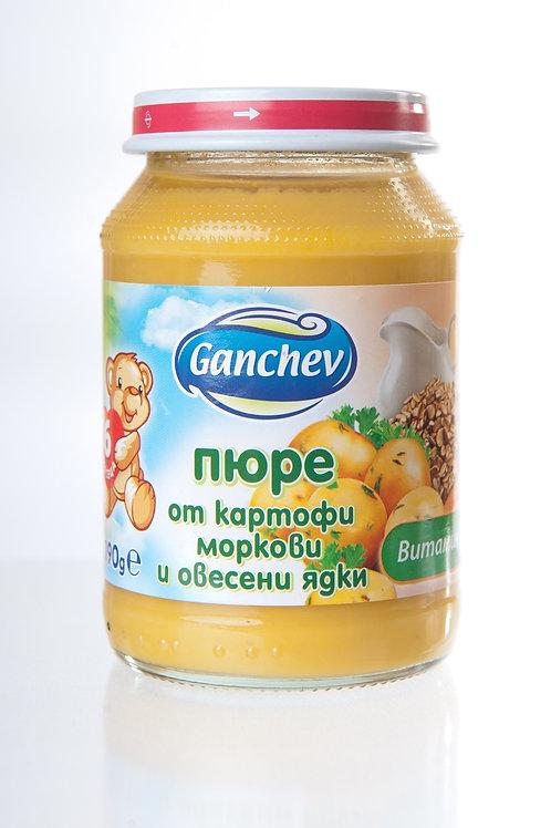 ПЮРЕ КАРТОФ, МОРКОВ, ОВЕСЕНИ ЯДКИ ГАНЧЕВ