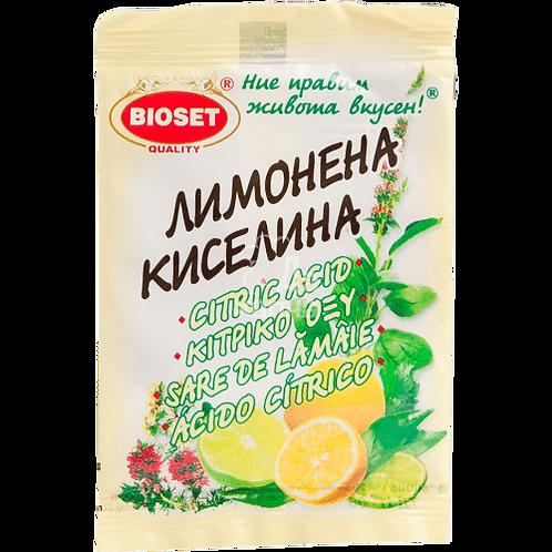 ЛИМОНЕНА КИСЕЛИНА БИОСЕТ 10ГР.
