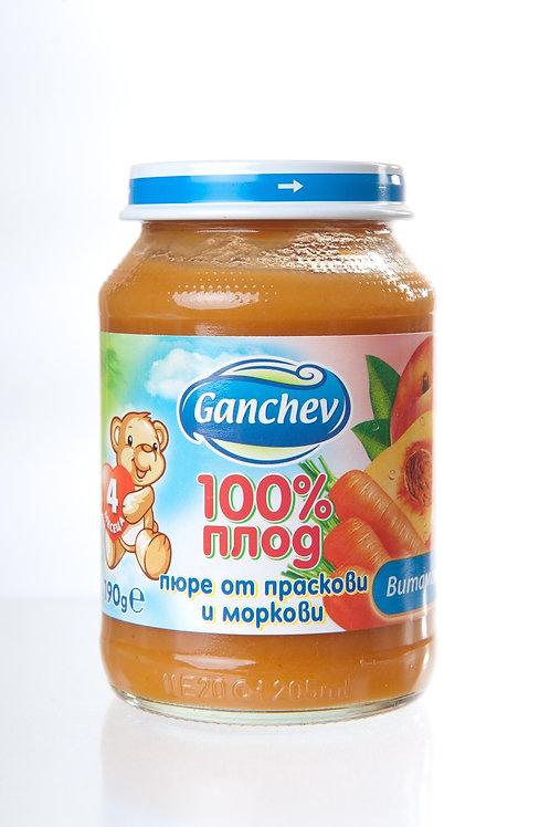 ПЮРЕ ПРАСКОВИ И МОРКОВИ 190ГР ГАНЧЕВ