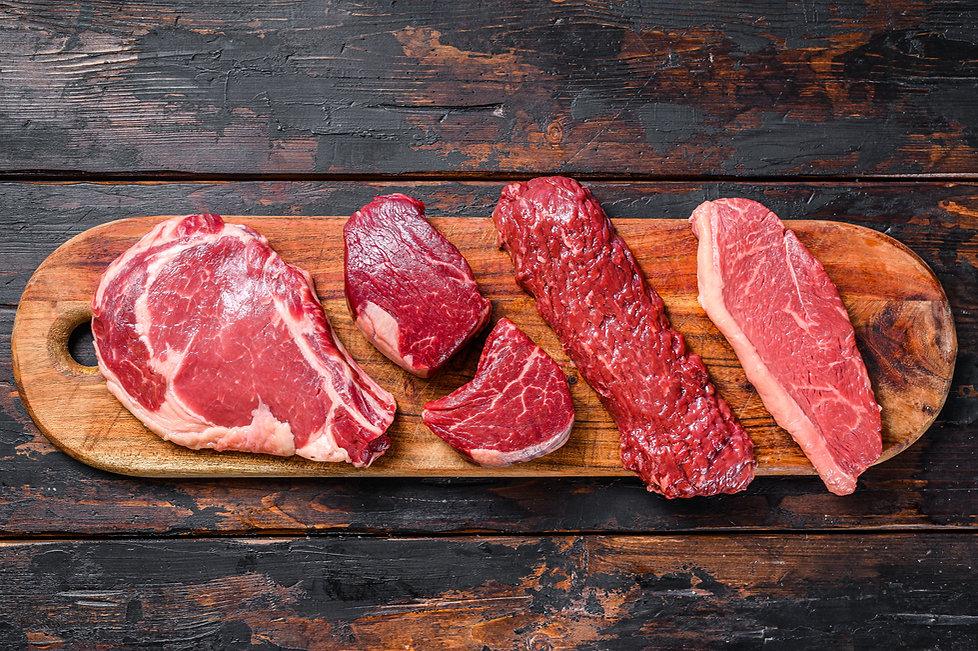 raw-beef-steaks-fillet-mignon-rib-eye-st