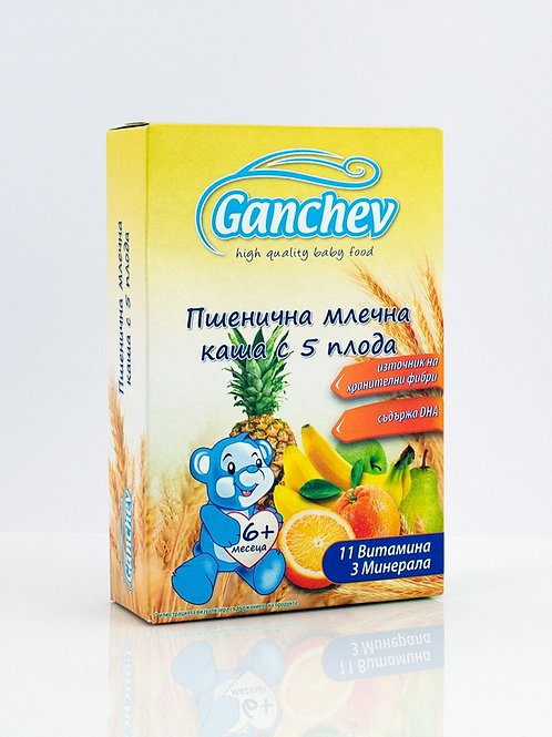 КАША БАНАН, ЯБЪЛКА И ПОРТОКАЛ 200 ГР. ГАНЧЕВ