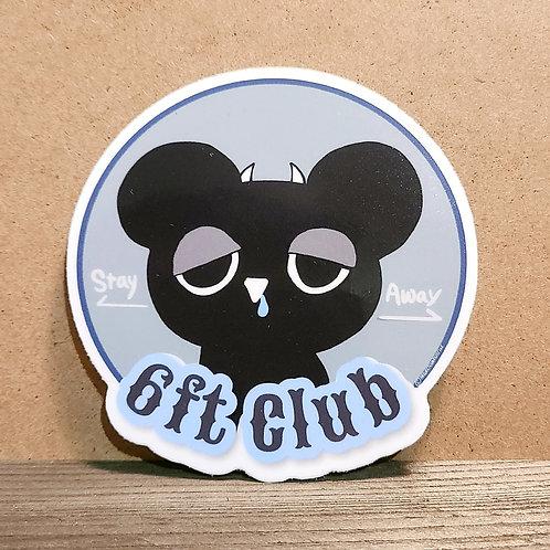 """6ft Club"" CIRKULO Sticker"