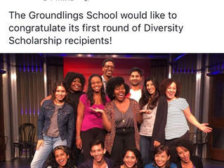 I am pleased to announce that you are a recipient of a Groundlings Diversity Scholarship.