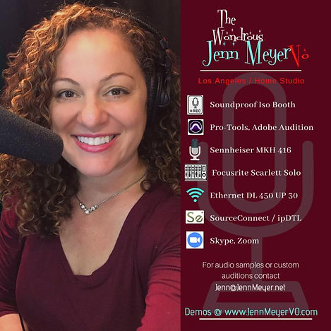 LA Female I Voice Over Actor I Jenn Meyer VO I LA Based VO Artist