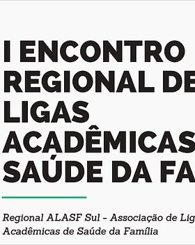 Relatório e apresentação do I ERLASF Sul