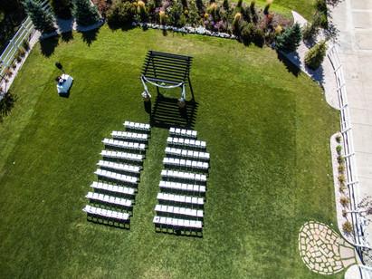 Drone View of a Wedding Venue