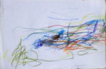 Paysage crayons de couleurs 13 cm X 21 c