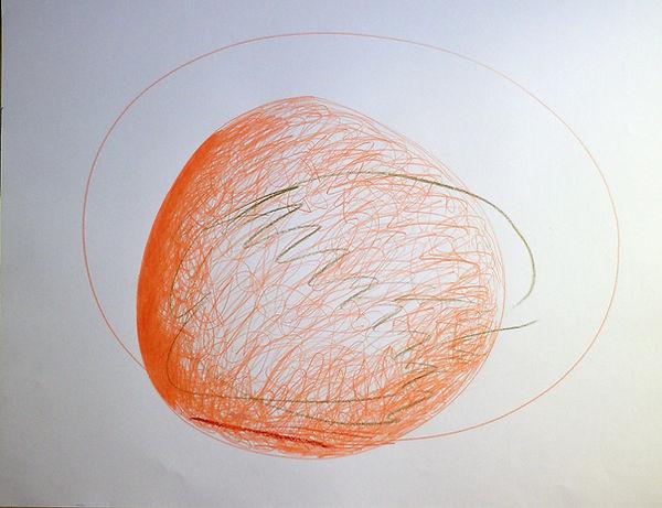 Forme, crayons de couleur, 50 cm X 65 cm