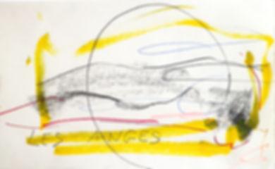 Paysage les anges, crayons de couleur
