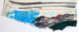 Paysage abstrait, crayons de couleur, 7,