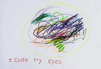 i close my eyes crayons de couleur, 13 c