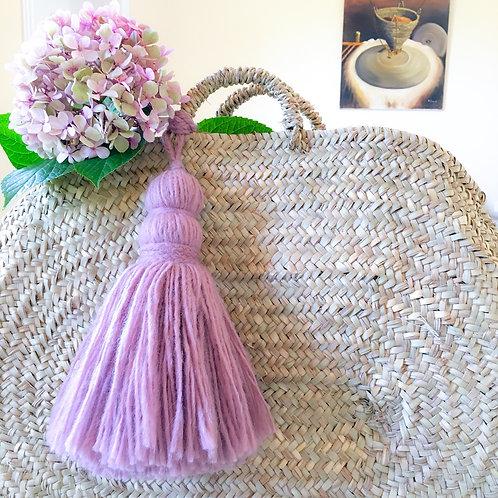 Pompon en laine *rose