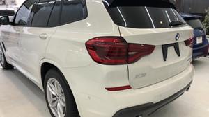 BMW X3 カーフィルム施工。