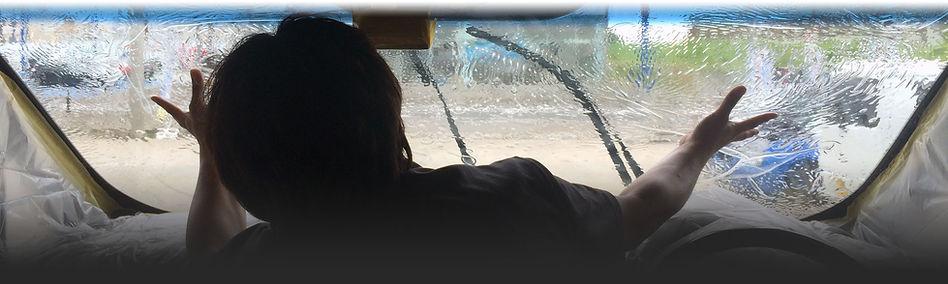 フロントガラス貼り込み風景