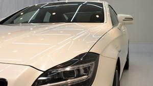 メルセデスベンツ CLS63 AMG ライト研磨+1043 Nano-Filコーティング+アルミモールクリーニング&PPF施工