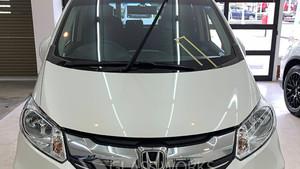 車両保険を使用したフロントガラス交換(ホンダ フリード)
