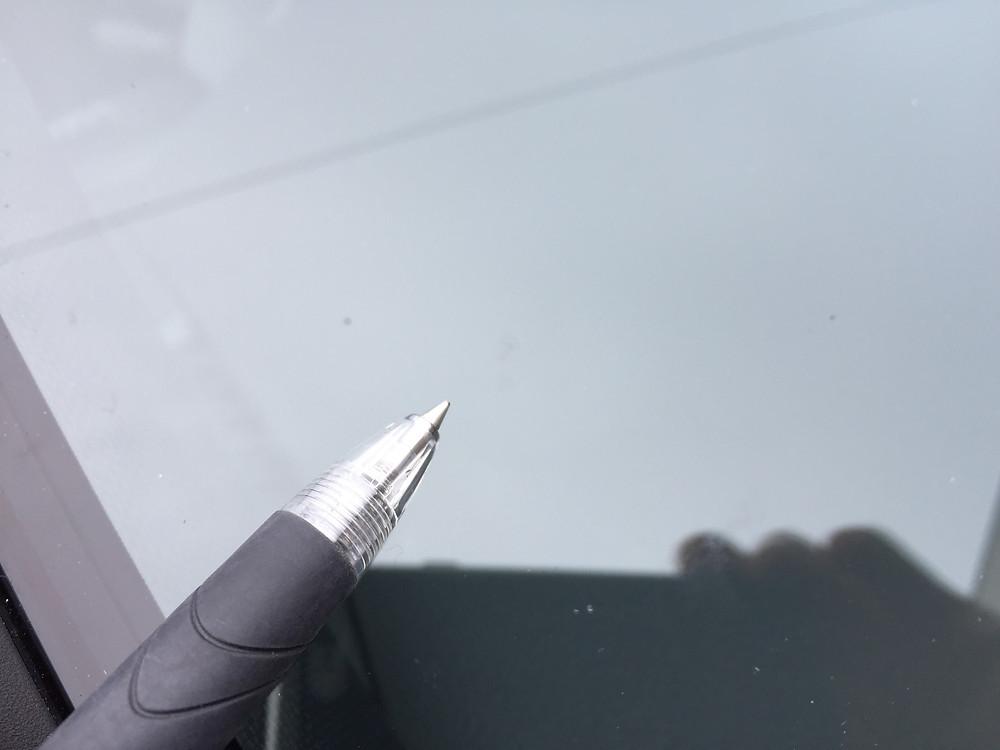 秋田市より出張ガラス修理のご依頼。3