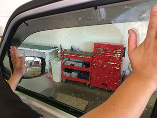 ドアガラス貼り込み