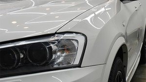 BMW X3 ライト研磨+1043 Nano-Filコーティング施工