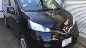 大仙市《出張》施工車両はNV200。価格を抑えたグッドプラスフロントガラス。
