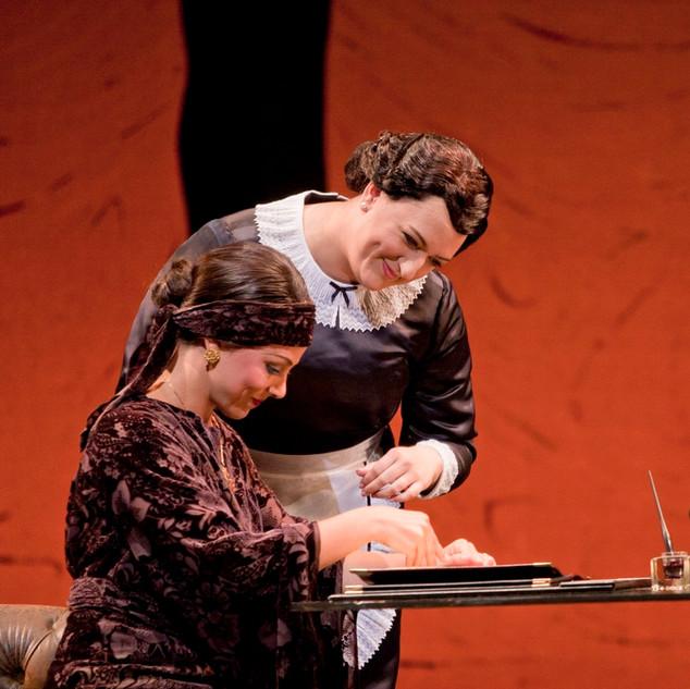 Annina in La traviata, with Corrine Winters