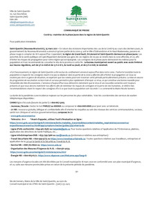 Communiqué de presse - COVID-19