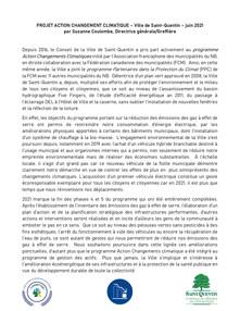 AVIS PUBLIC - PROGRAMME ACTION CHANGEMENTS CLIMATIQUES
