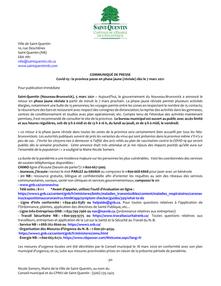 Covid-19 : la province passe en phase jaune (révisée) dès le 7 mars 2021