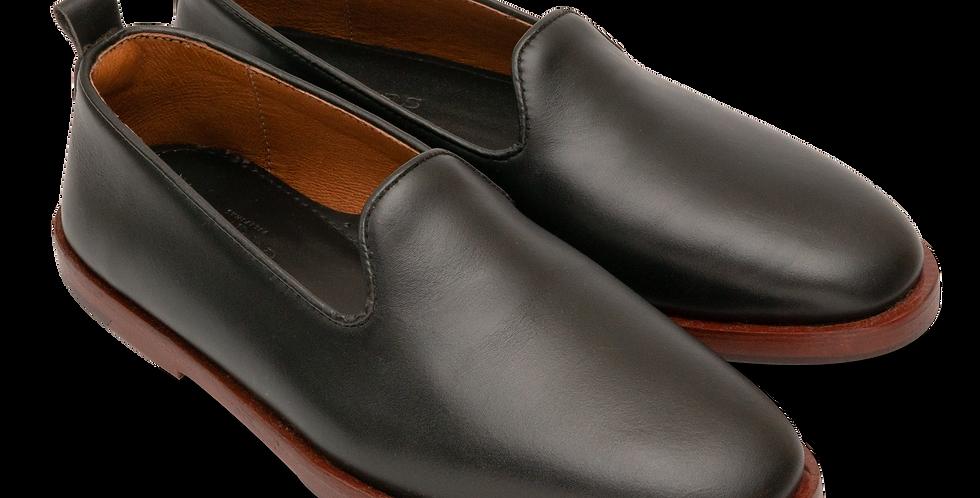 Plain Toe Slip On - Black (Men's)