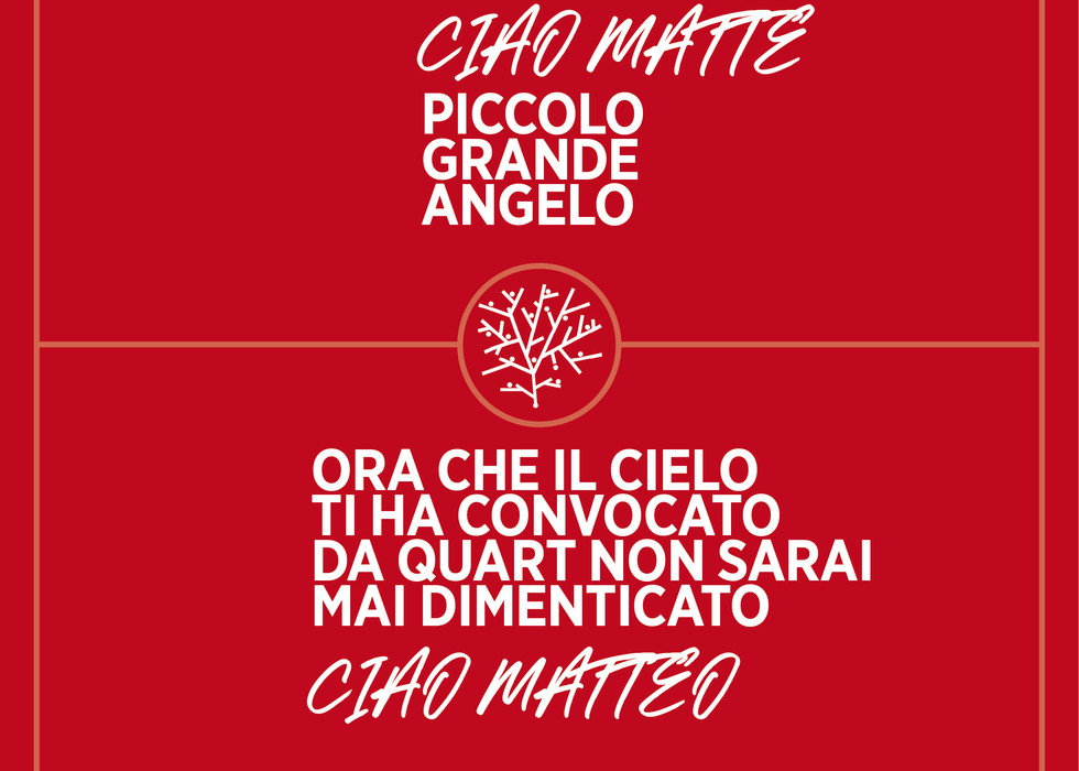 La targa dedicata a Matteo