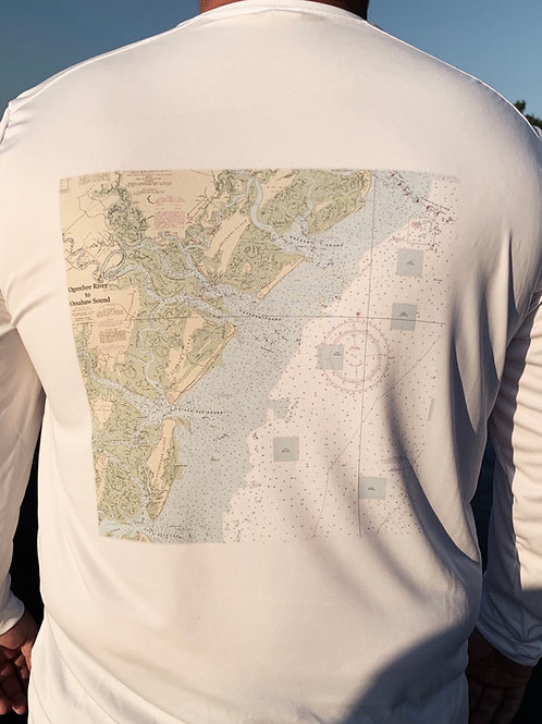 UV shirt long sleeve Nautical Ogeechee River chart