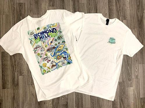 T-shirt Richmond Hill Watercolor (white)