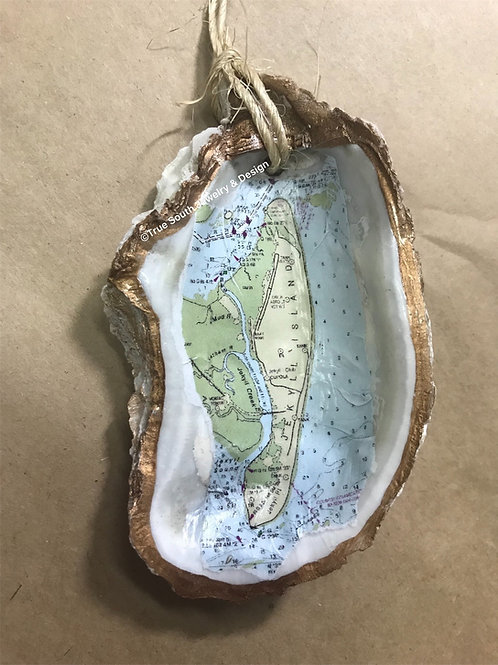 Jekyll Island oyster shell ornament