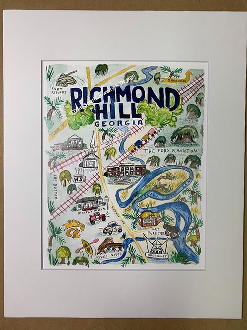 Richmond Hill Print 8x10