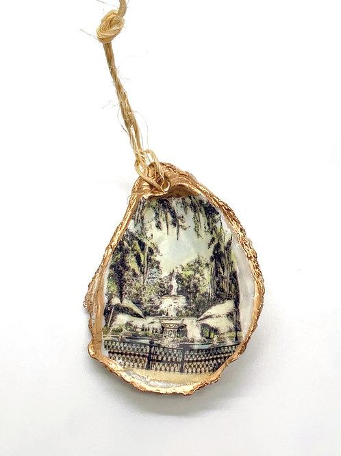 Forsyth Fountain Oyster Shell Ornament