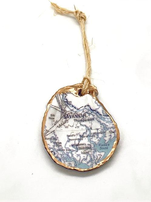 Thunderbolt, GA Oyster Shell Ornament