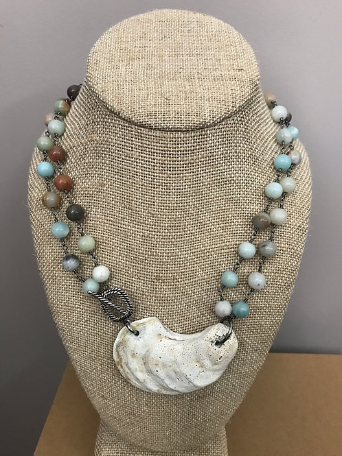 Double Amazonite Oyster Necklace