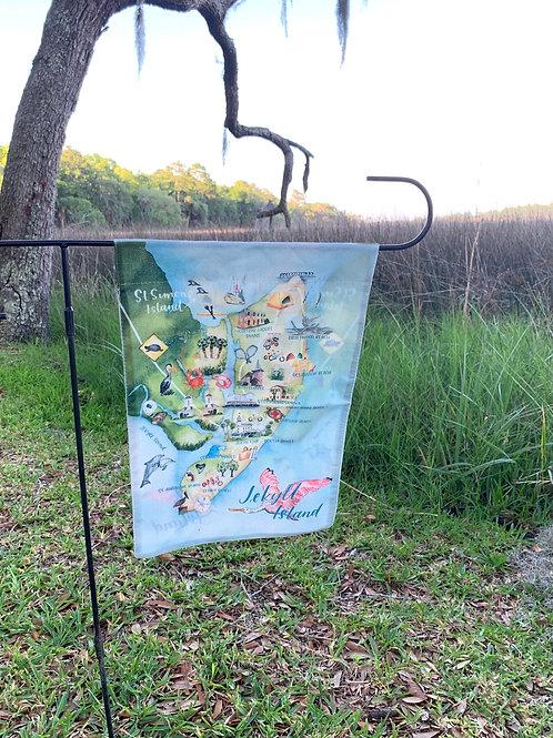 Yard flag Jekyll Island watercolor