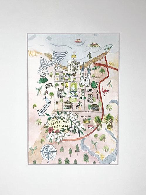 Savannah print 8x10