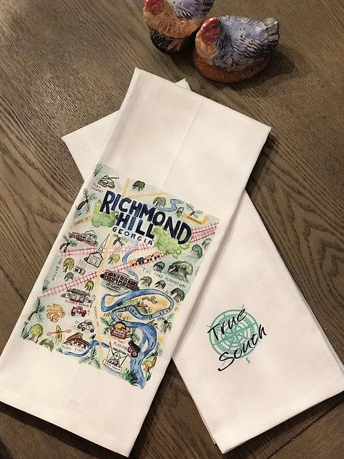 Tea Towel-Richmond Hill Map
