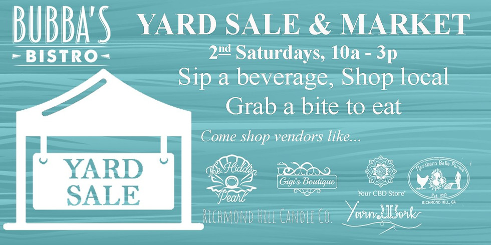 Bubba's Bistro Yard Sale & Market